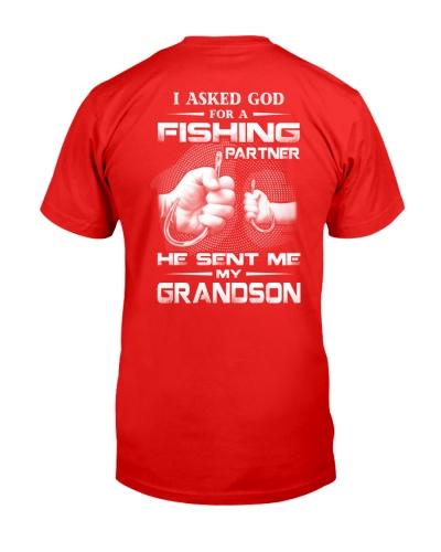 I Asked God For A Fishing Partner Grandson