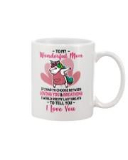To My Wonderful Mom If I Had To Choose Unicorn Mug front