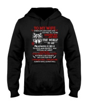 When Life Gets Hard And You Feel All Alone Wolf   Hooded Sweatshirt front