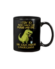 I Try To Avoid Things That Make Me Fat Dinosaur Mug thumbnail