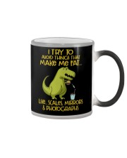 I Try To Avoid Things That Make Me Fat Dinosaur Color Changing Mug thumbnail