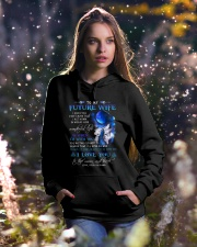 I Hope You Don't Mind Wolf Hooded Sweatshirt lifestyle-holiday-hoodie-front-5