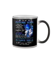 I Hope You Don't Mind Wolf Color Changing Mug tile