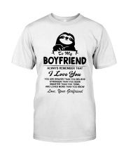 Sloth Boyfriend I Love You Classic T-Shirt thumbnail