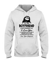 Sloth Boyfriend I Love You Hooded Sweatshirt thumbnail