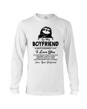 Sloth Boyfriend I Love You Long Sleeve Tee thumbnail