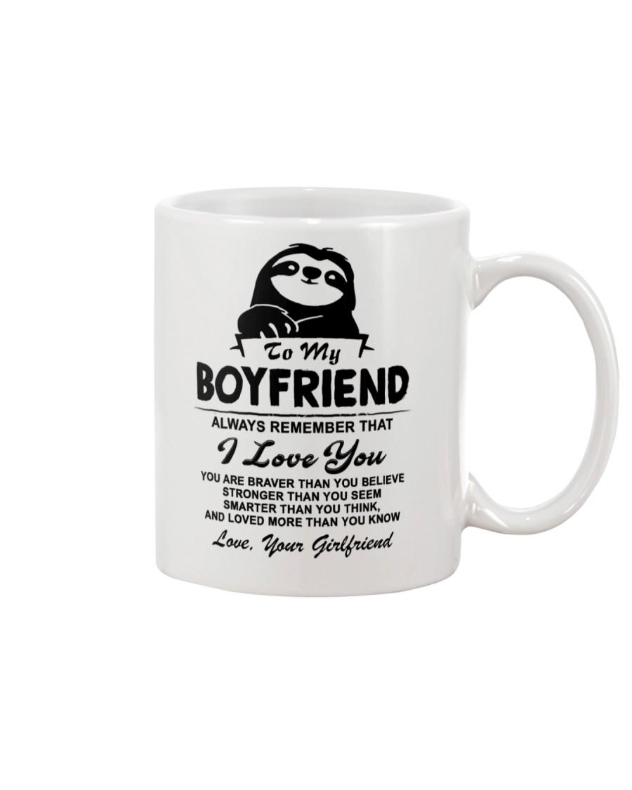 Sloth Boyfriend I Love You Mug