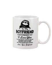 Sloth Boyfriend I Love You Mug front