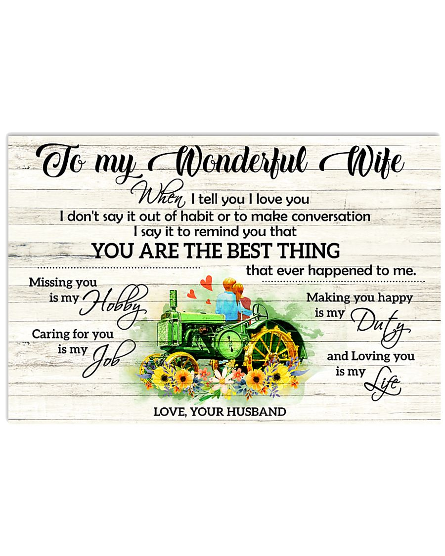 I Tell You I Love You Farmer 17x11 Poster