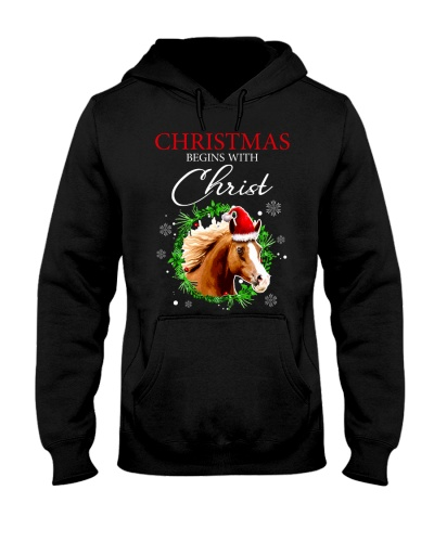 Horse Christmas Begins With Christ