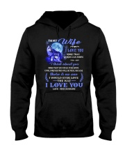 I Love You More Than Words Can Show Wolf Hooded Sweatshirt front