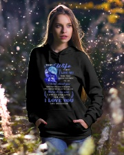 I Love You More Than Words Can Show Wolf Hooded Sweatshirt lifestyle-holiday-hoodie-front-5