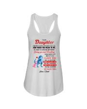 Dinosaur Daughter Last Breath To Say Love  Ladies Flowy Tank thumbnail