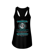 Viking Daughter Dad Beautiful Inside And Out Ladies Flowy Tank thumbnail