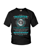 Viking Daughter Dad Beautiful Inside And Out Youth T-Shirt thumbnail