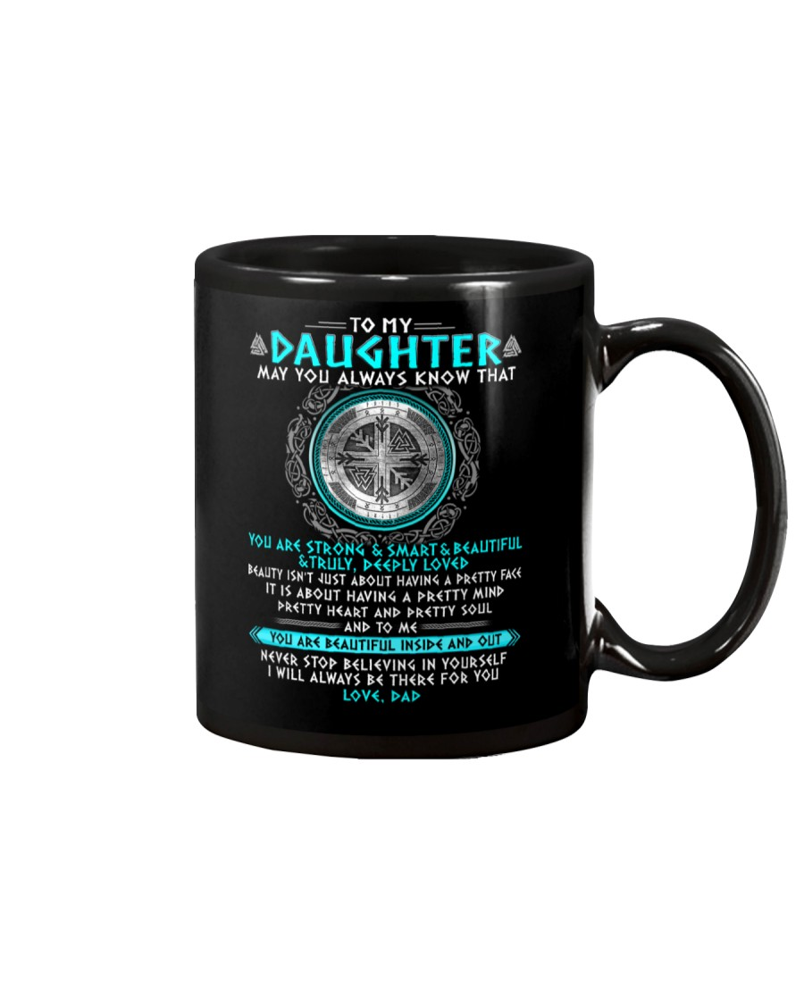 Viking Daughter Dad Beautiful Inside And Out Mug