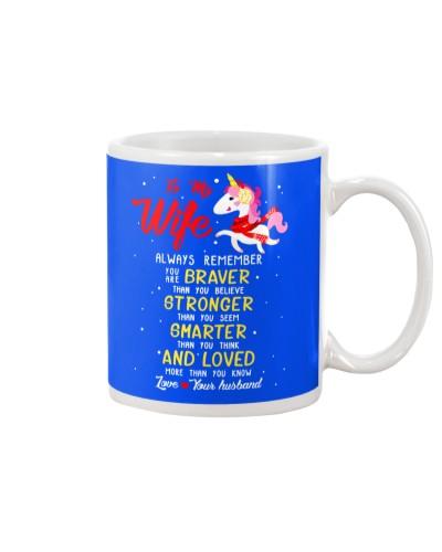 Unicorn Wife Braver Stronger Smarter
