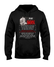 Wolf Dad Son Brains In Your Head Hooded Sweatshirt thumbnail