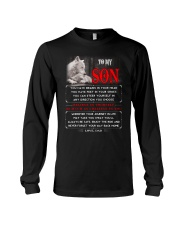 Wolf Dad Son Brains In Your Head Long Sleeve Tee thumbnail