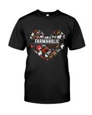 I Am A Farmaholic Classic T-Shirt front