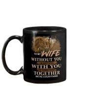 To My Wife Without You I'm Nothing Horse Mug back