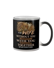 To My Wife Without You I'm Nothing Horse Color Changing Mug thumbnail