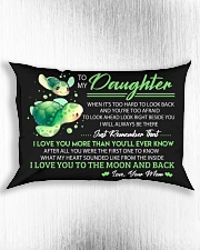 When It's Look Hard To Look Back Turtle  Rectangular Pillowcase aos-pillow-rectangle-front-lifestyle-4