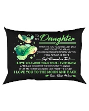 When It's Look Hard To Look Back Turtle  Rectangular Pillowcase back