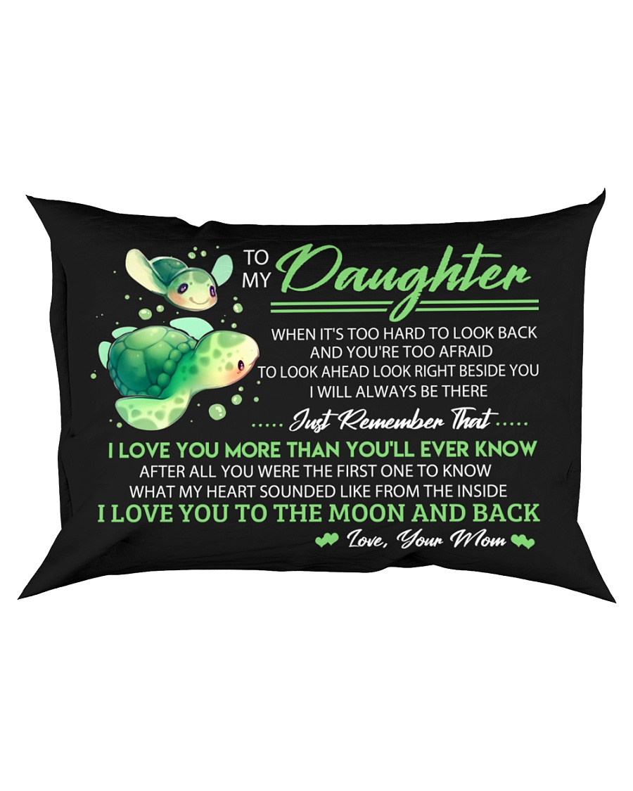 When It's Look Hard To Look Back Turtle  Rectangular Pillowcase