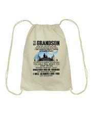 FISHING GRANDSON GRANDPA NEAR OR FAR APART Drawstring Bag thumbnail