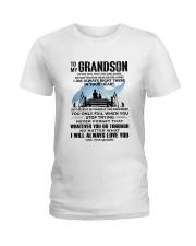 FISHING GRANDSON GRANDPA NEAR OR FAR APART Ladies T-Shirt thumbnail
