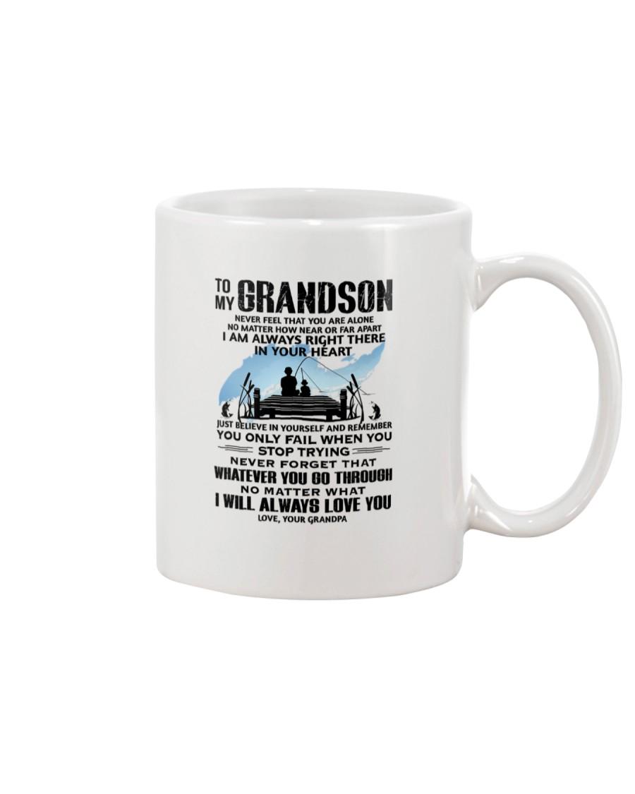 FISHING GRANDSON GRANDPA NEAR OR FAR APART Mug