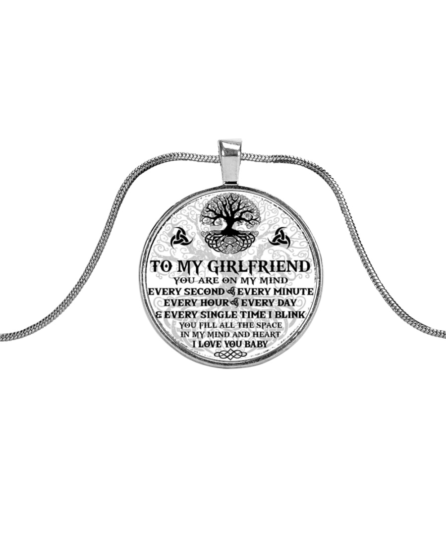 Every Second-Minute-Hour-Day Girlfriend Viking Metallic Circle Necklace