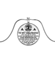 Every Second-Minute-Hour-Day Girlfriend Viking Metallic Circle Necklace front