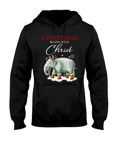 Elephant Christmas Begins With Christ