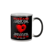 Dog Ability To See Yourself Husband Color Changing Mug thumbnail