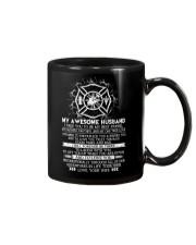 Faithful Partner True Love Wife Firefighter Mug front