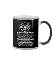 Faithful Partner True Love Wife Firefighter Color Changing Mug thumbnail