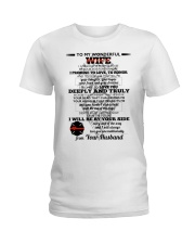 I Give You My Promise  Firefighter Wife Ladies T-Shirt thumbnail
