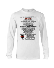 I Give You My Promise  Firefighter Wife Long Sleeve Tee thumbnail