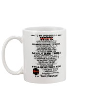 I Give You My Promise  Firefighter Wife Mug back