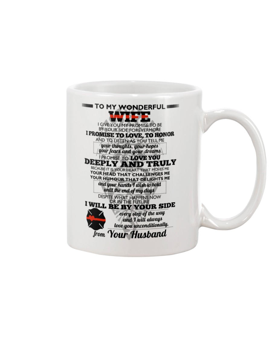I Give You My Promise  Firefighter Wife Mug