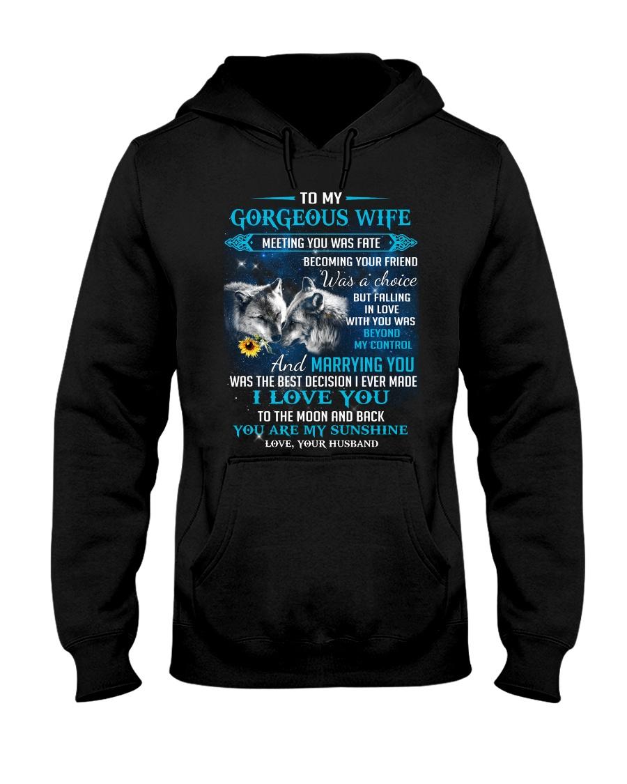 Meeting You Was Fate Wolf Hooded Sweatshirt
