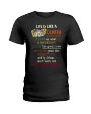 Life Is Like Camera Photography Ladies T-Shirt thumbnail