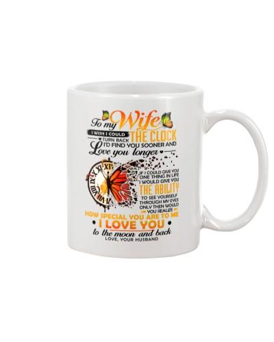 Butterfly Wife Clock Ability Moon Mug