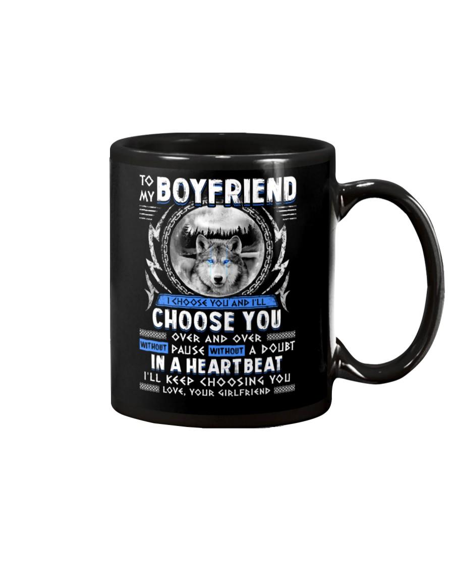 Wolf I Choose You Boyfriend Mug