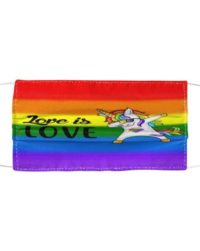 Love Is Love Unicorn LGBT Face Masks CC