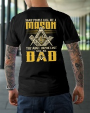 FREEMASON CALL ME DAD GG Classic T-Shirt lifestyle-mens-crewneck-back-3
