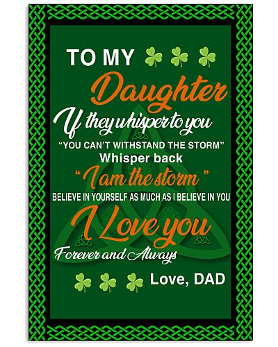 Viking Daughter Dad I Am The Storm Poster CC