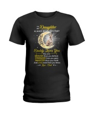 Whippet Daughter Dad Daddy Loves You Ladies T-Shirt thumbnail